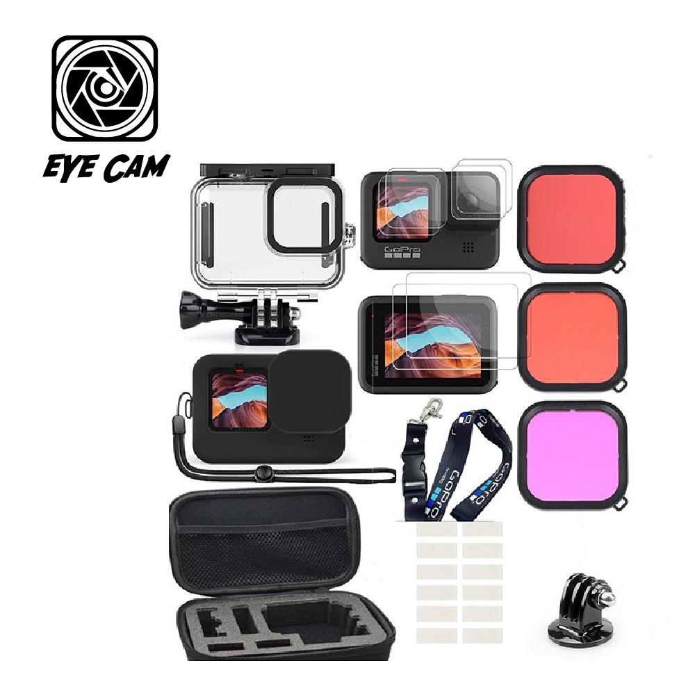 GoPro 副廠 Hero 9 GoPro Hero 9 潛水套組 防水盒+三片式濾鏡+掛繩+收納盒【eYeCam】