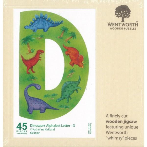 WENTWORTH  恐龍 字母 D  45P  拼圖總動員  木拼  英國拼圖
