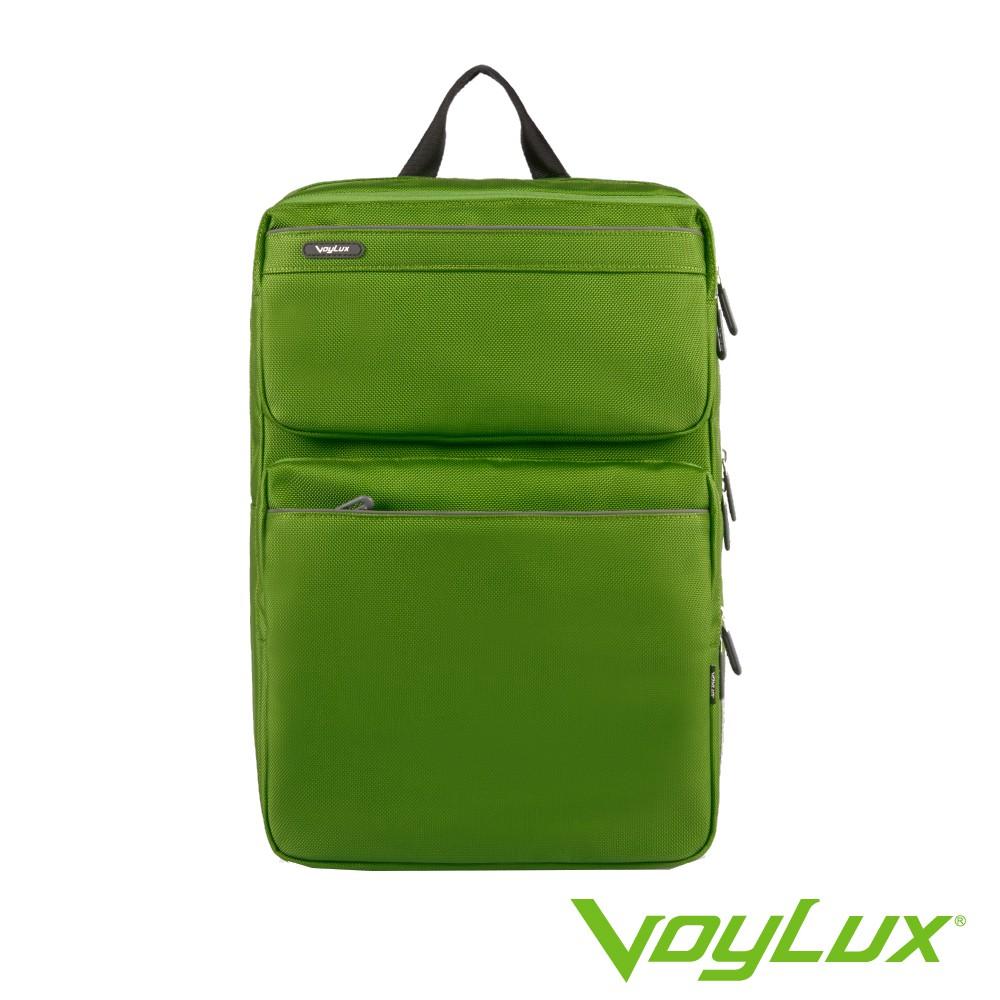 【VoyLux伯勒仕】防潑水多隔層設計 雙肩大後背包 / 電腦包(軍綠色-3280113A)