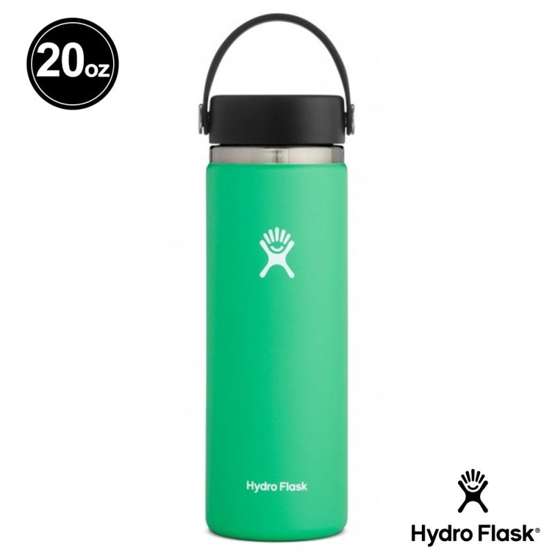Hydro Flask 寬口 58mm 不鏽鋼真空保溫瓶 藥草綠 20oz / 591ml HFW20BTS340