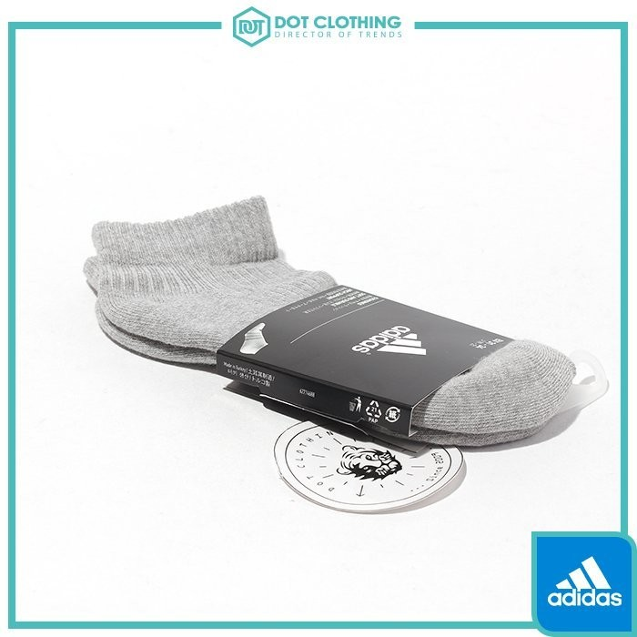 DOT Adidas 3S PER N-S HC1P 灰黑 船型襪 三條線 毛巾底 氣墊襪 短襪 男女 AA2284