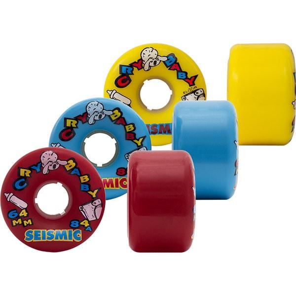 【SEISMIC】Longboard (滑板長板/ 交通板) 專用輪子 (Cry Baby 64mm 80a~88a)