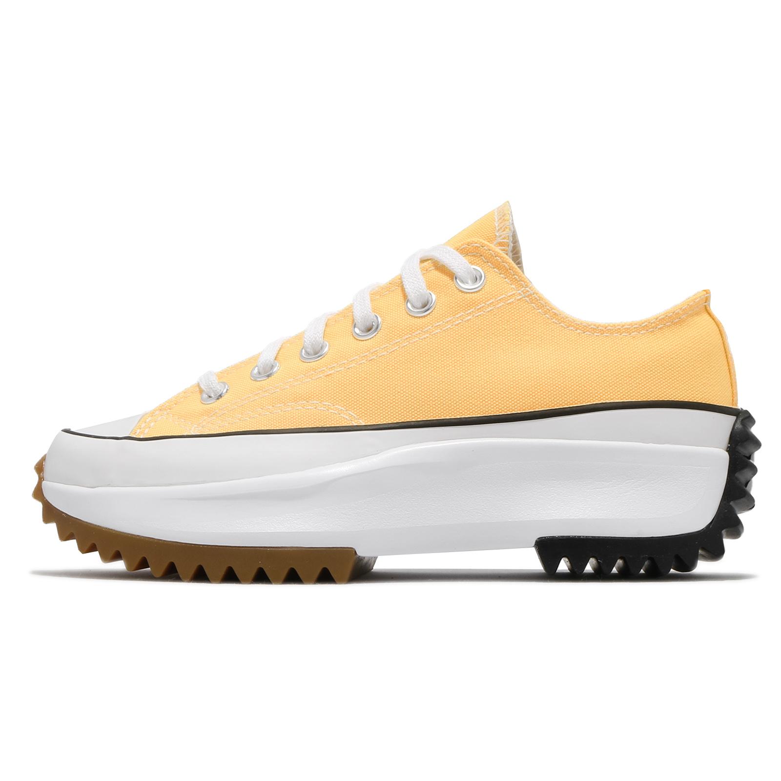 Converse 休閒鞋 Run Star Hike 黃 白 厚底 增高 鋸齒鞋 女鞋 帆布鞋【ACS】 170778C