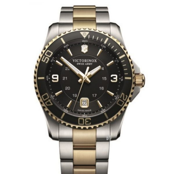 VICTORINOX 瑞士維氏 SWISS ARMY 水鬼風格軍錶 手錶 (VISA-241824) 黑金