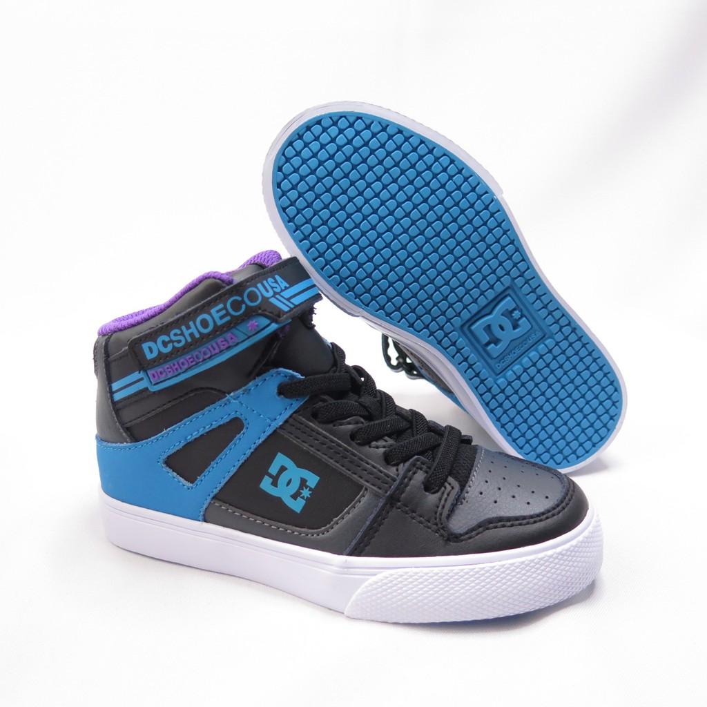 DC PURE HIGH-TOP  EV  中童休閒鞋  300324XSBK 黑X藍紫【iSport愛運動】