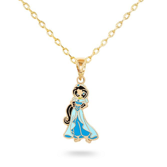 【迪士尼-阿拉丁系列-台灣限定款】茉莉公主 鎖骨鍊 迪士尼官方正版授權 130068161
