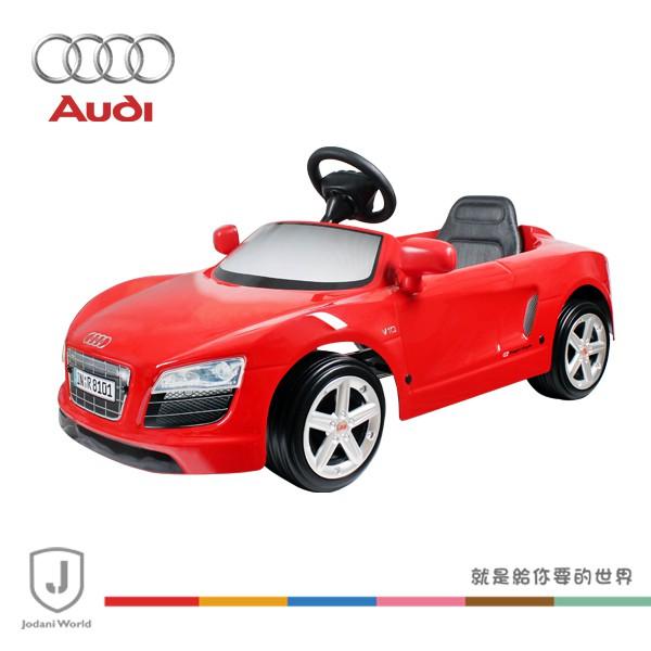 奧迪AUDI R8 SPYDER 兒童超級電動跑車-12V-火焰紅
