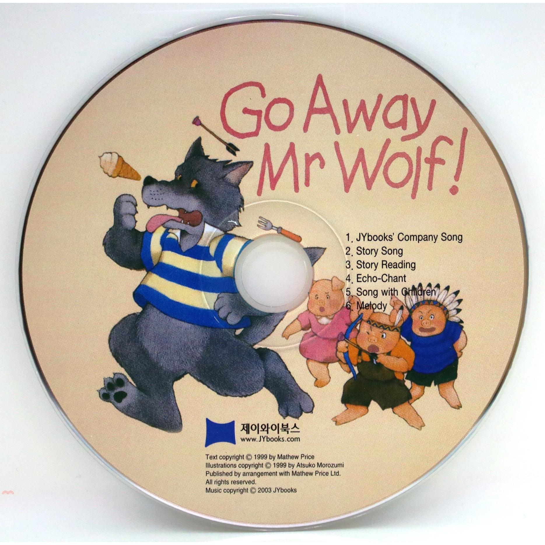 Go Away Mr Wolf (1 CD only) 廖彩杏老師推薦有聲書第2週【三民網路書店】[79折]