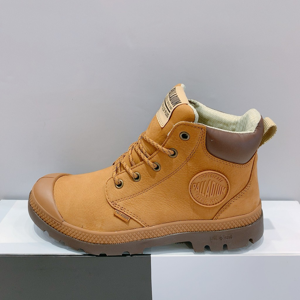 PALLADIUM PAMPA CUFF LITE+WP+LTH 男女款 卡其色 皮革 防水 高筒靴 76464-257