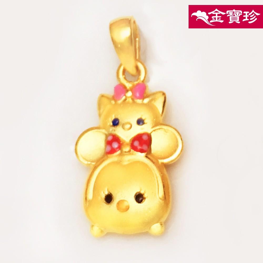 迪士尼系列金飾-TSUM TSUM造型黃金墜子-美妮&瑪麗貓款