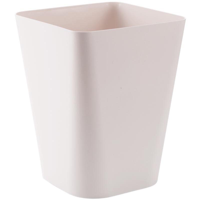 居家家 素色大號無蓋垃圾桶衛生間廢紙簍 家用廚房客廳塑膠垃圾筒