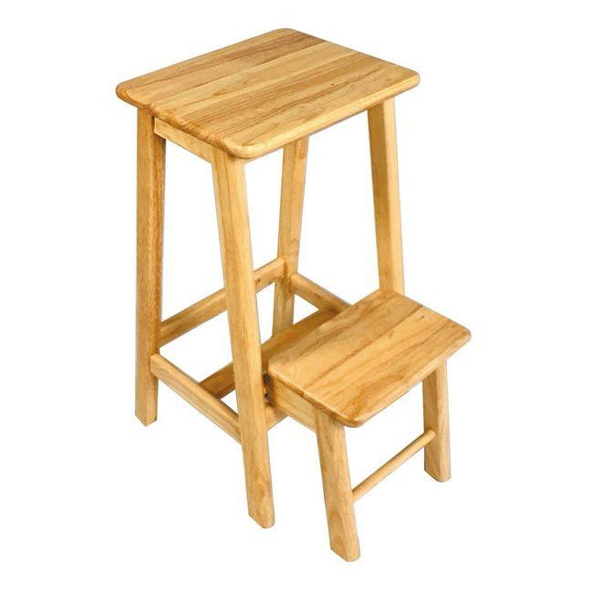 【CB43-567】全實木吧檯樓梯專用凳