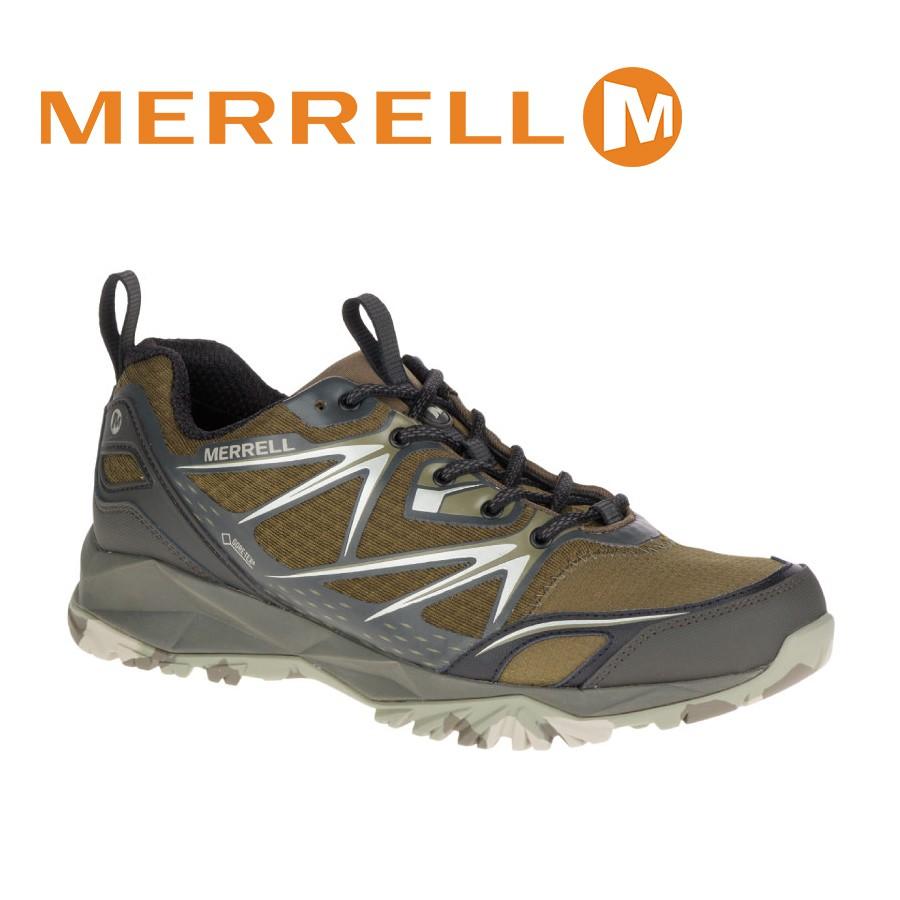 MERRELL 美國 男款 CAPRA BOLT MID GORE-TEX 登山鞋 〈深橄欖綠〉/ML3742/悠遊山水