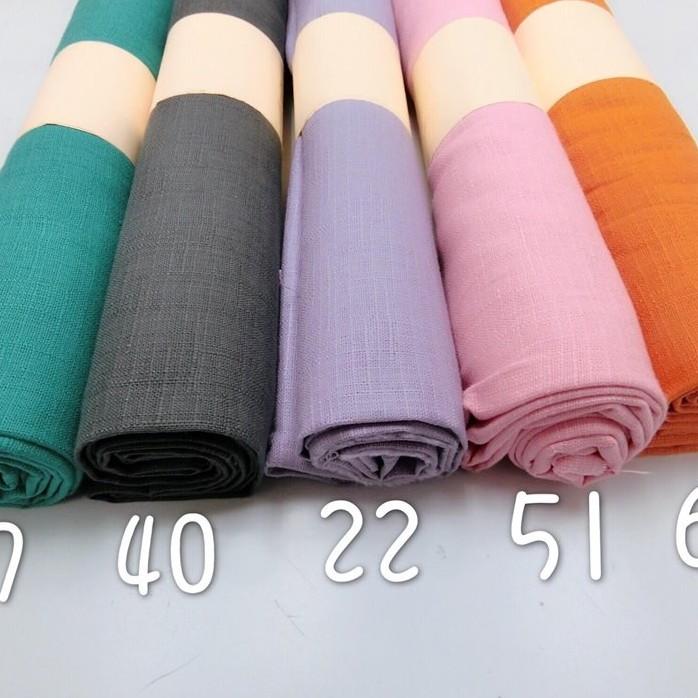 厚棉布-節紗/古布/素色/素面布(紅粉色系)