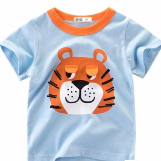 母嬰 新款韓版男童服裝 寶寶衣服 男童短袖T恤棉 男童圓領時尚休閒短袖母婴