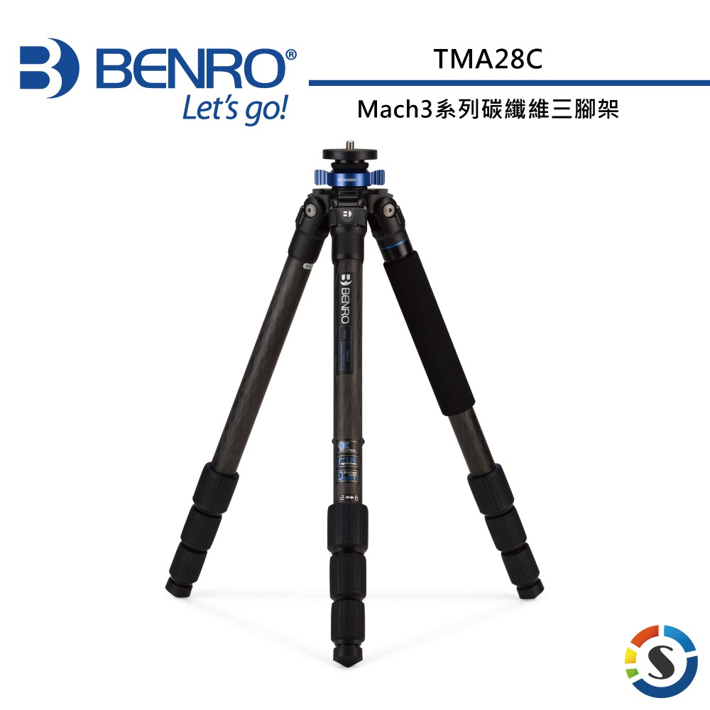 BENRO百諾 TMA28C Mach3系列碳纖維三腳架