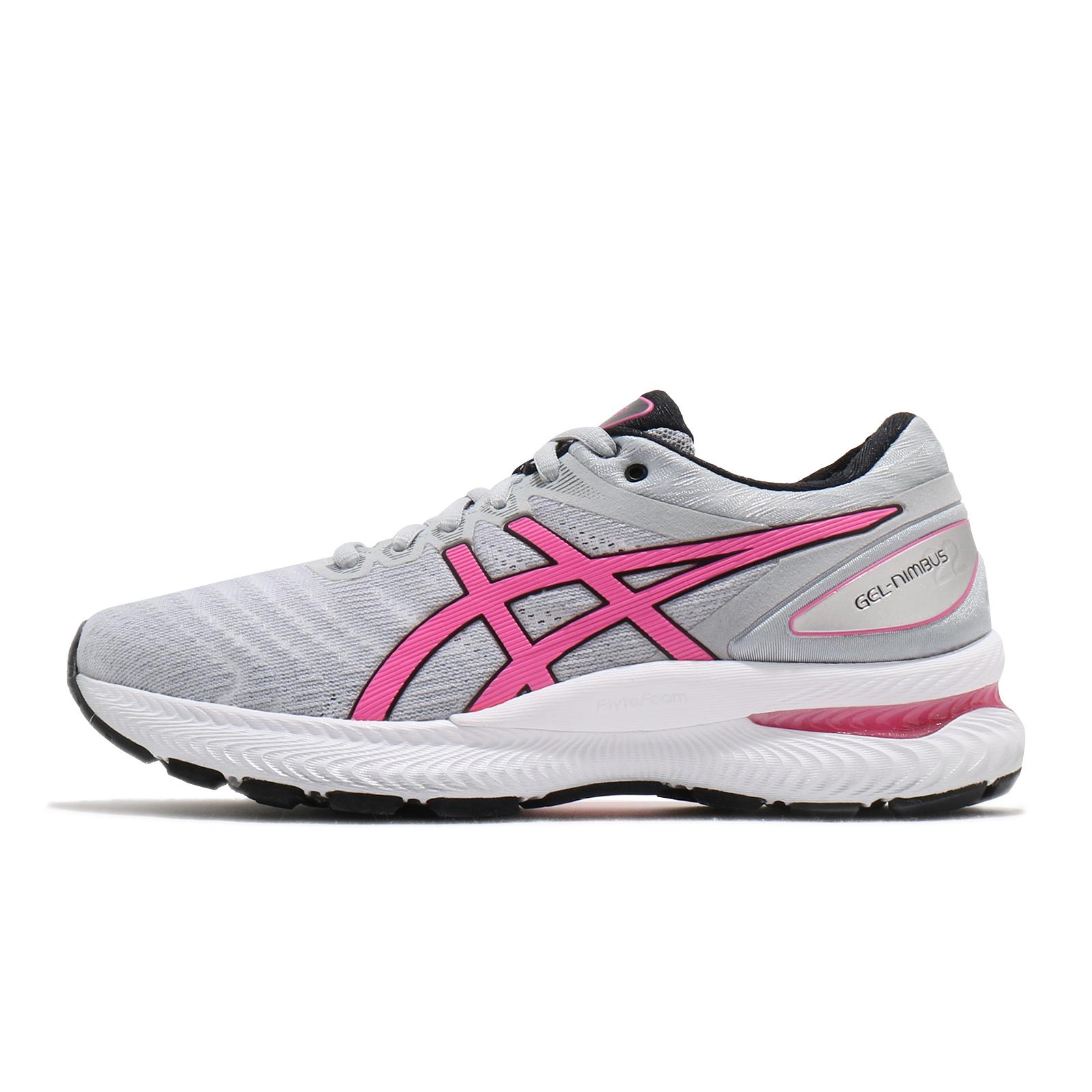 Asics 慢跑鞋 Gel-Nimbus 22 灰 粉紅 亞瑟士 女鞋 亞瑟膠 【ACS】 1012A587-021