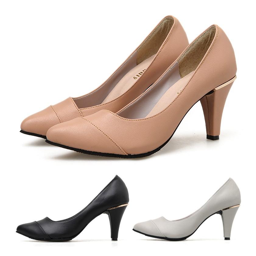 【白鳥麗子】尖頭鞋 訂製款 MIT優雅亮眼拼接金屬高跟包鞋