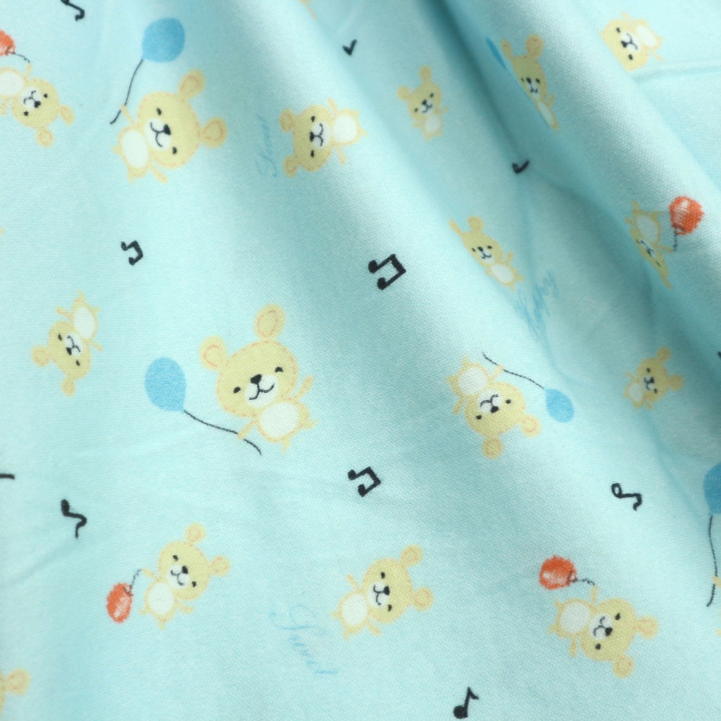 針織輕磨毛布-音符小熊