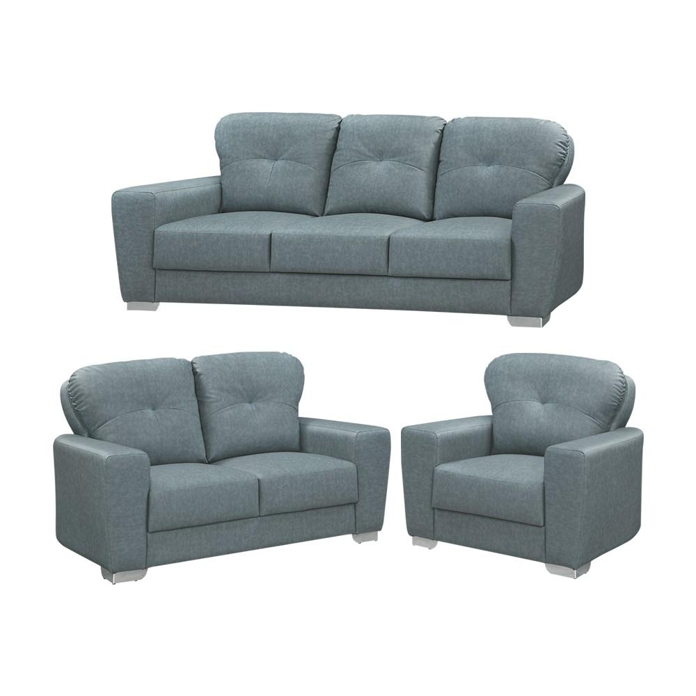 IHouse-微笑 柔韌貓抓皮獨立筒沙發 1+2+3人座