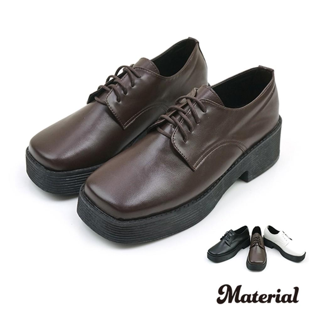 厚底鞋 方頭綁帶厚底鞋  T4898
