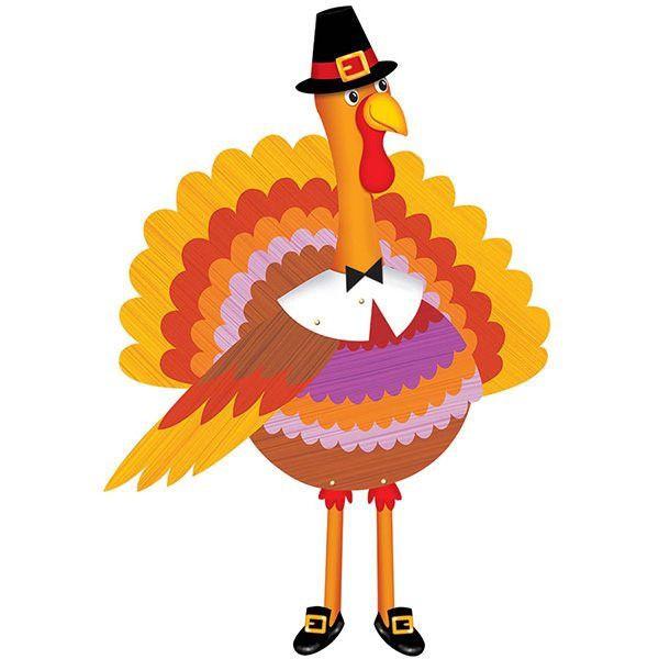 派對城 現貨【裝飾紙卡1入-感恩節火雞】 歐美派對 派對裝飾 裝飾紙卡 感恩節 派對佈置 拍攝道具