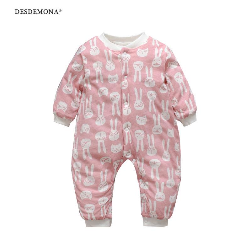 現貨出售 新品上新男女寶寶爬服嬰兒連體衣冬季加厚棉連體外出服新生兒哈衣