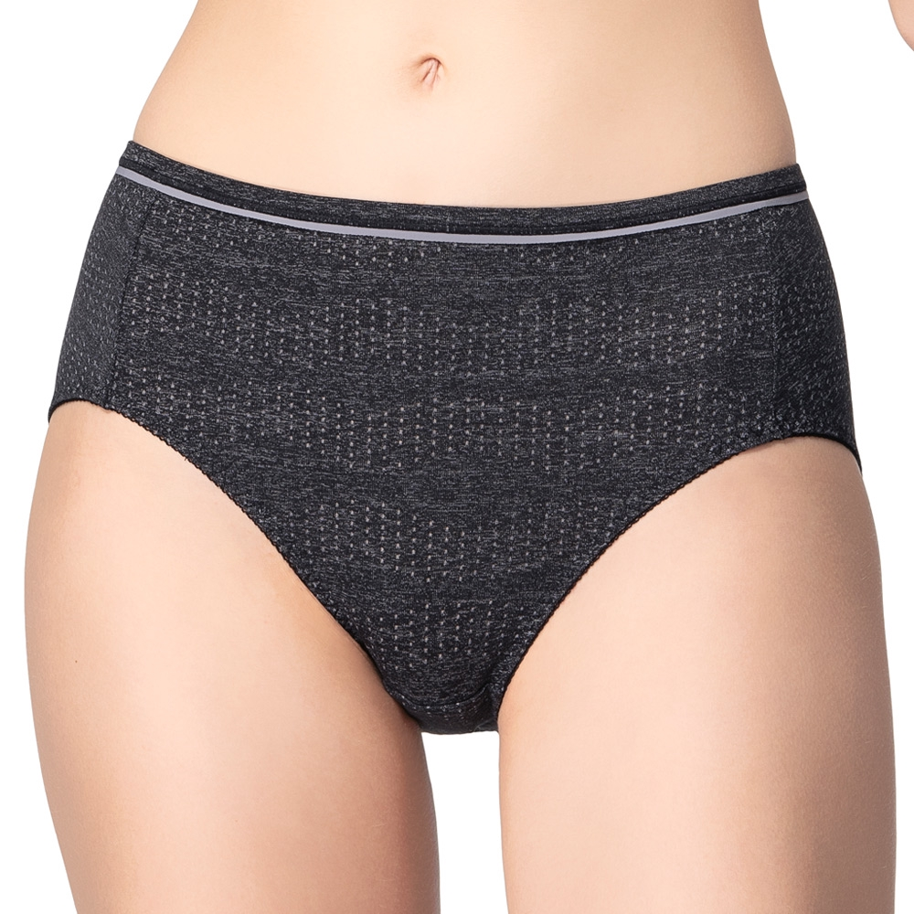 SWEAR 思薇爾 超洞感系列M-XXL中腰三角內褲(黑色)