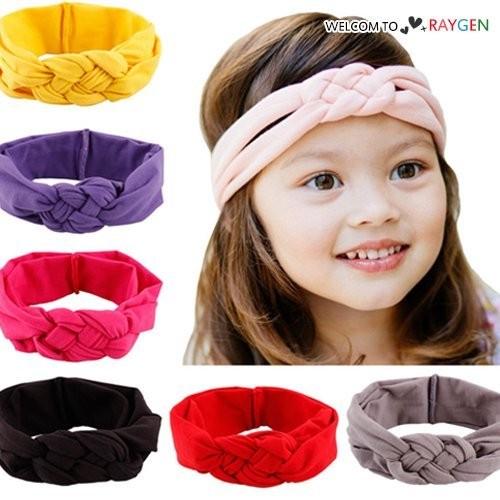 甜美女童糖果色中國結麻花造型髮帶 頭飾 髮箍【2D154Z256】