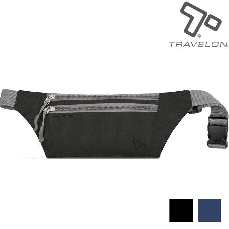 TRAVELON 貼身腰包/輕巧多夾層腰包/旅遊腰包 TL-42977