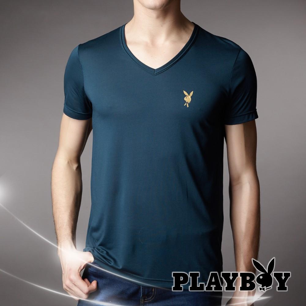 【PLAY BOY】日本高科技節能涼感V領短袖衣
