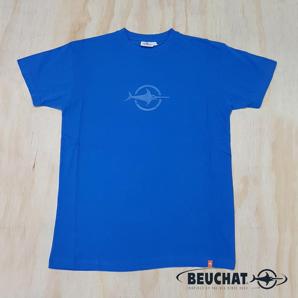 BEUCHAT TSMC CORPORATE 純棉藍色T恤