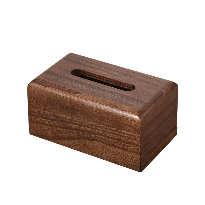 北歐餐巾紙盒創意實木家用紙巾盒簡約酒店辦公室客廳抽紙盒刻LOGO
