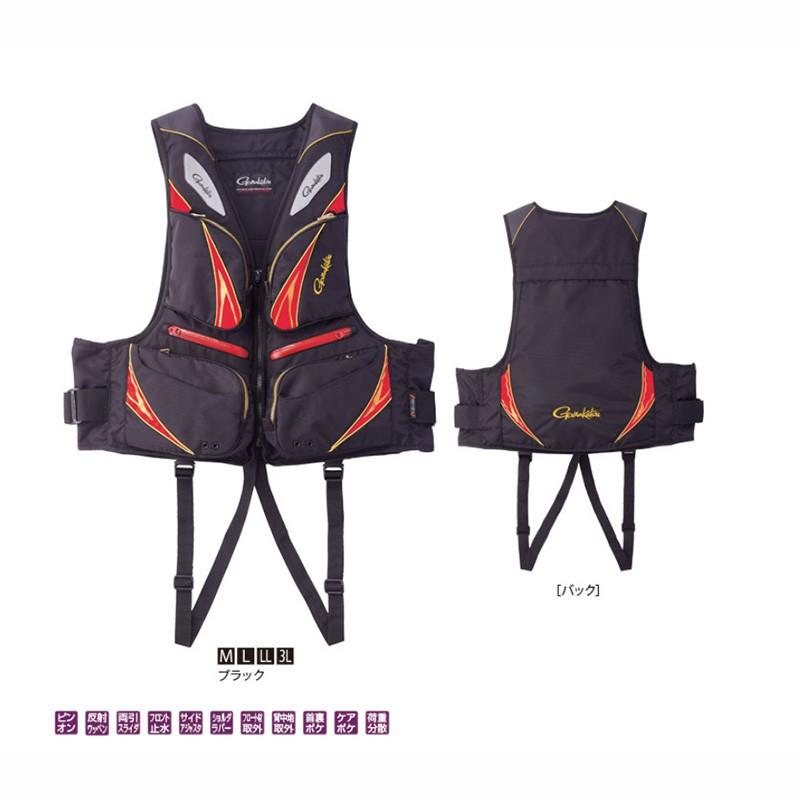 《gamakatsu》GM-2191 黑色救生衣 中壢鴻海釣具館 釣魚救生背心 成人救生衣 釣魚裝備  L-XL號