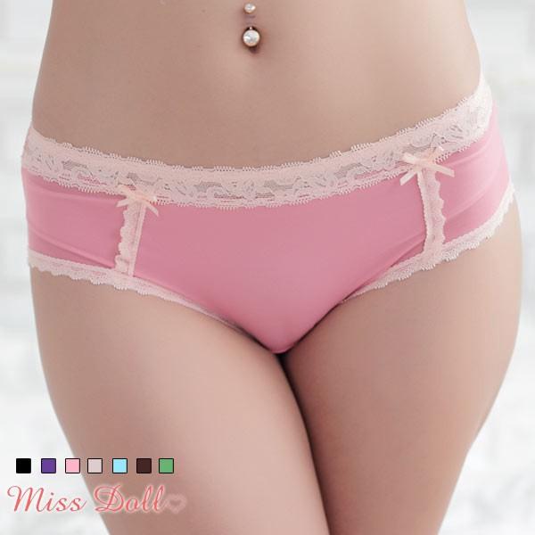 蜜絲朵 閃耀光感 超細緻柔軟蕾絲三角內褲7色F010(粉) 廠商直送 現貨