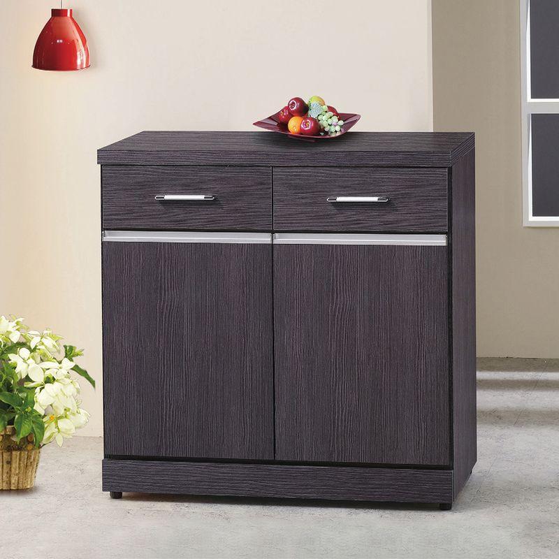 【RA842-4】胡桃2.7尺碗盤櫃