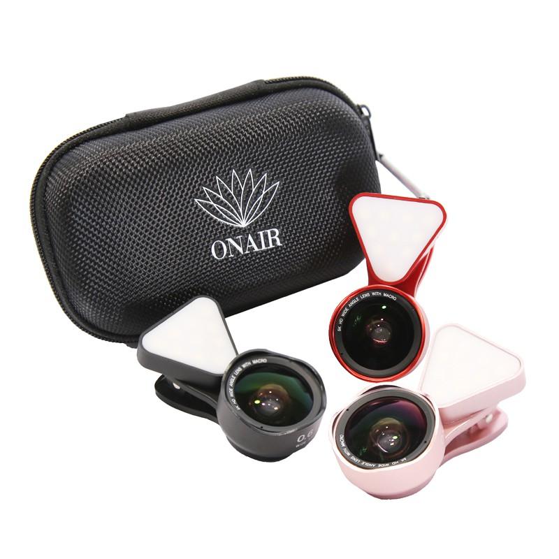 ONAIR AI186抗變形 補光燈廣角鏡頭 微距 鏡頭 5K HD高清 廣角鏡 自拍神器 手機鏡頭 自拍鏡頭