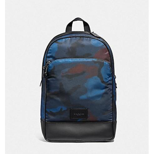 COACH 37607 後背包 尼龍材質 後背包 電腦包 公事包 雙肩包 藍色 廠商直送
