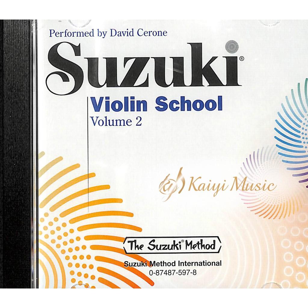 鈴木 小提琴教本第2冊之〔CD〕Suzuki Violin CD Vol.2 演奏者:David Cerone