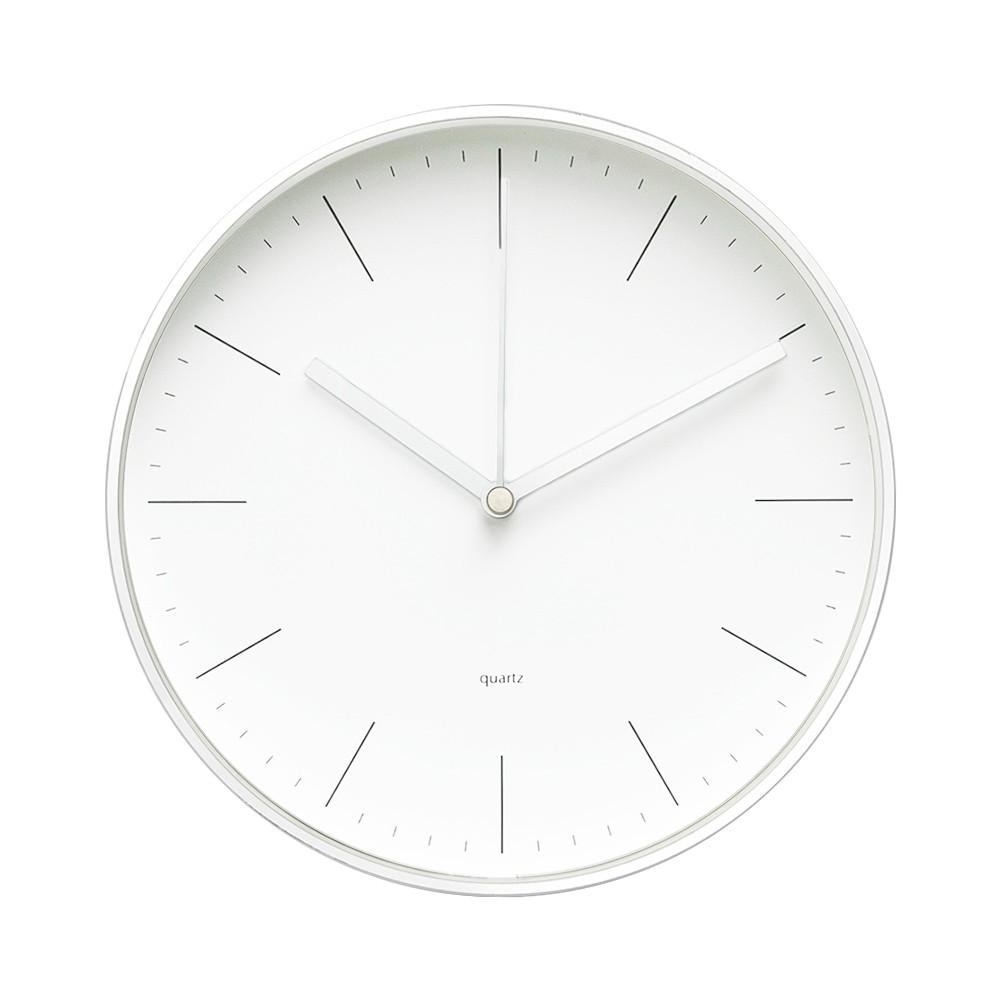 【LOVEL】20cm簡約鋁框時鐘  共3款(炙熱黑/率性彩/冷冽白)《WUZ屋子》