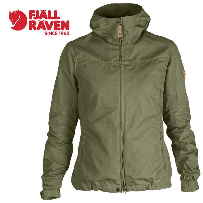 【Fjallraven 小狐狸 瑞典】Stina 防風外套 風衣 夾克 G1000 軍裝外套 女款 綠色 (89234)