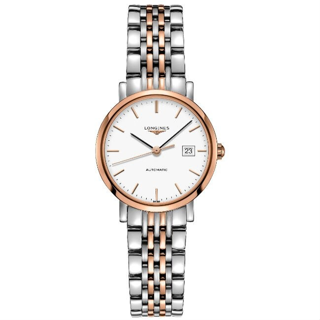 LONGINES 浪琴表 L43105127 雙色優雅典雅腕錶/白面29mm
