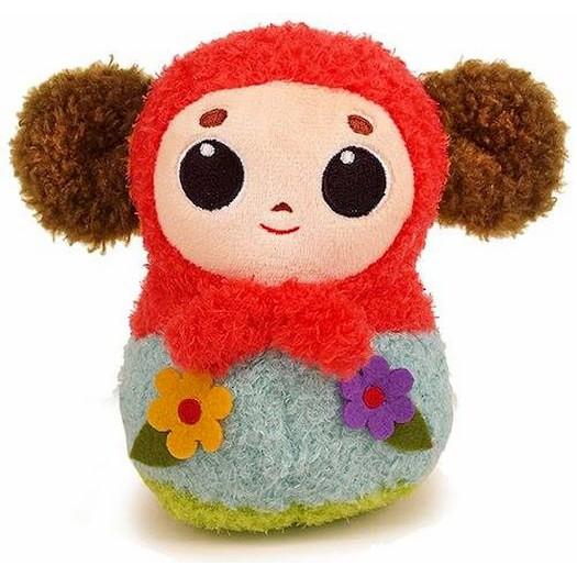 【大耳查布】 絨毛玩偶-俄羅斯娃(紅巾)