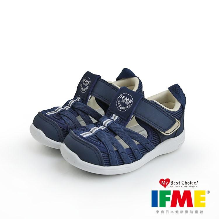 【買就送漁夫帽】【日本IFME】機能童鞋 (小童) - 藍