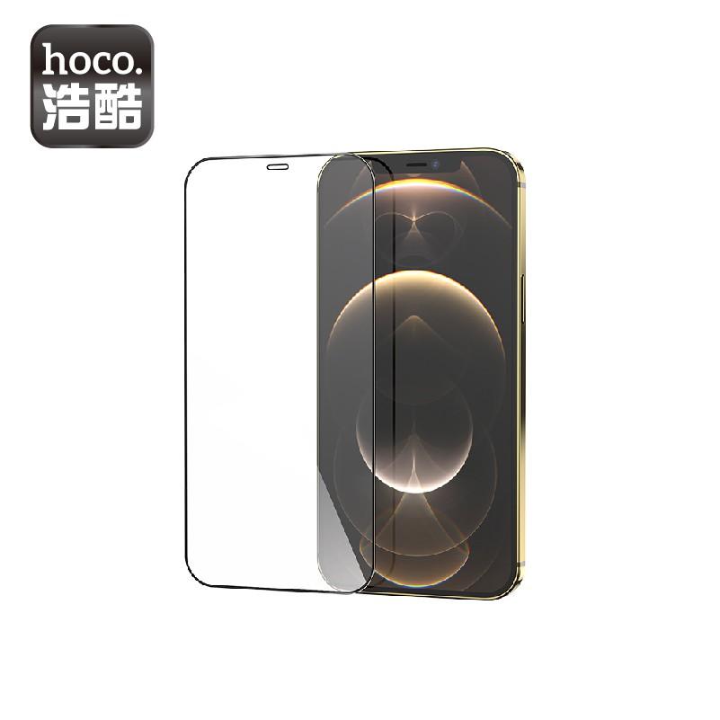 hoco. 浩酷 iPhone12 mini Pro Pro Max 全屏絲印高清鋼化膜 2.5D邊框 保護貼【酷瘋】