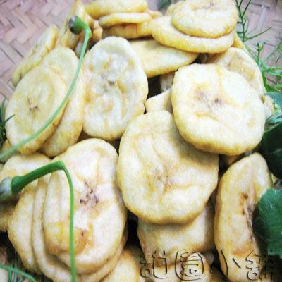 香蕉脆片 水果餅乾 水果片  水果條 乾燥水果  脫水水果 素食 【甜園】
