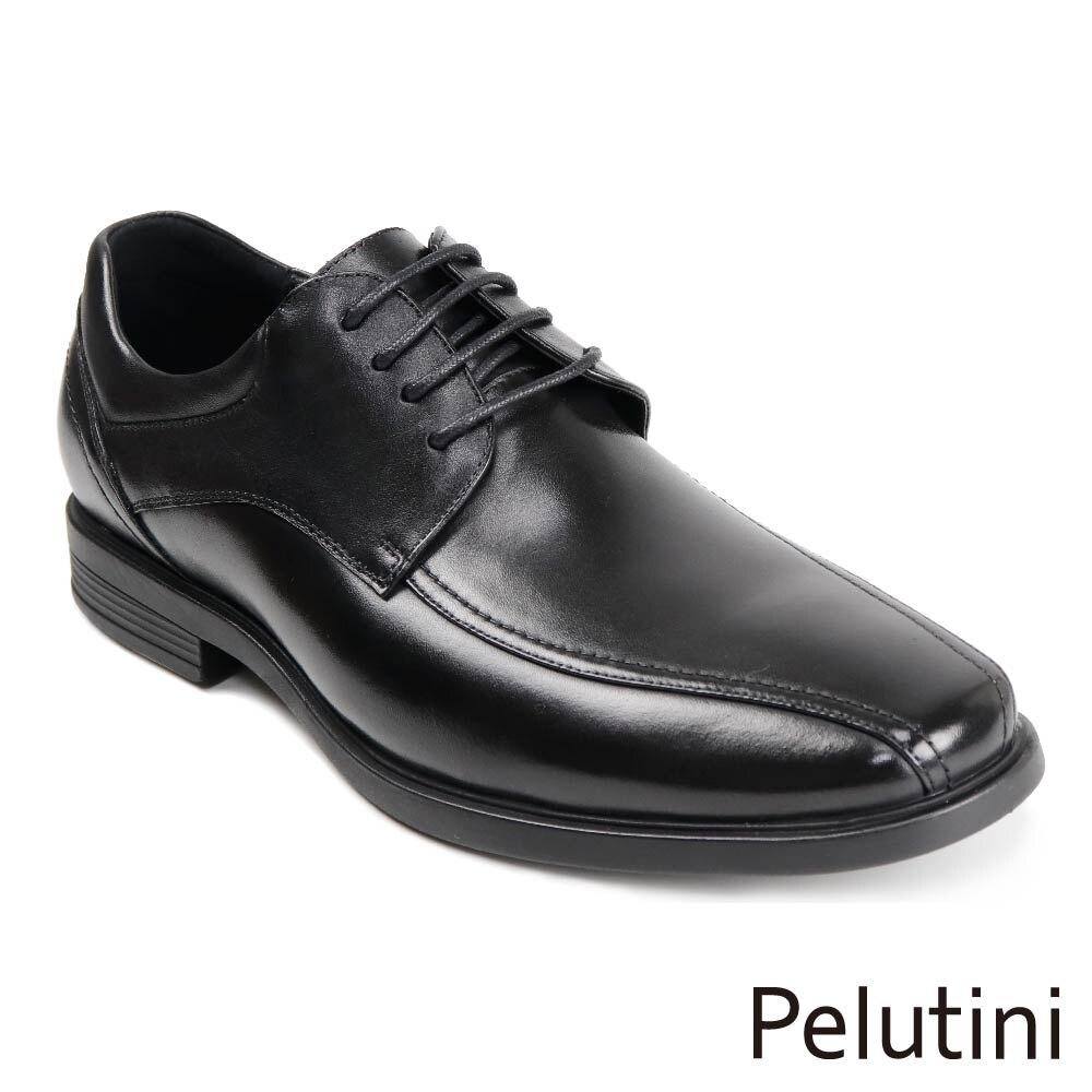 【Pelutini】雙縫線都會德比鞋 黑色(1749-BL)