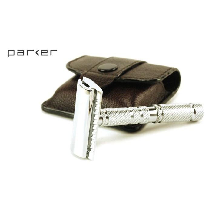 GOODFORIT / 美國Parker Travel Safety Razor四件式旅行鍍鉻刮鬍刀具