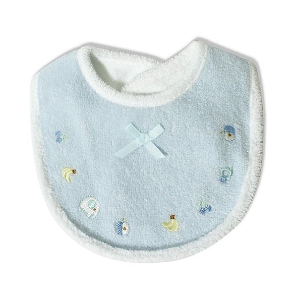 日本製甘撚綿小圍兜-藍色