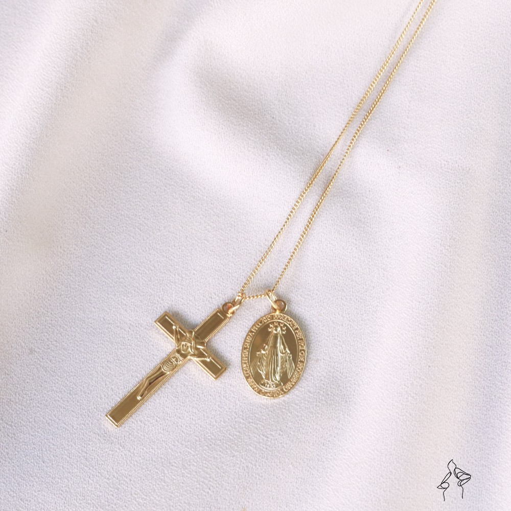 純銀項鍊 長項鍊 十字架【FEMIN歐美風格飾品】聖經故事-毋忘初心 Beginning